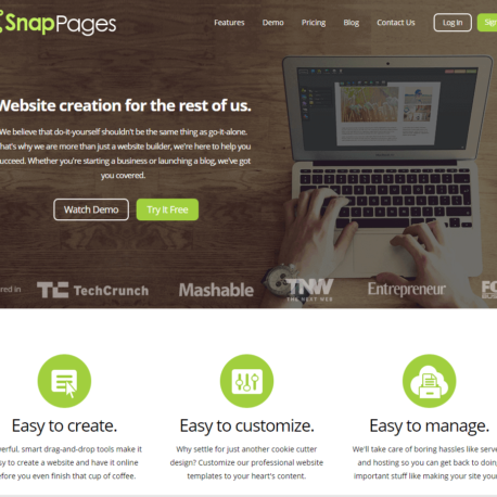 SnapPages – Create a Website