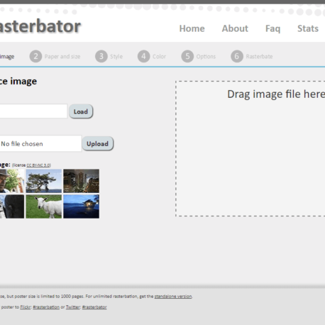 The Rasterbator – wall art generator