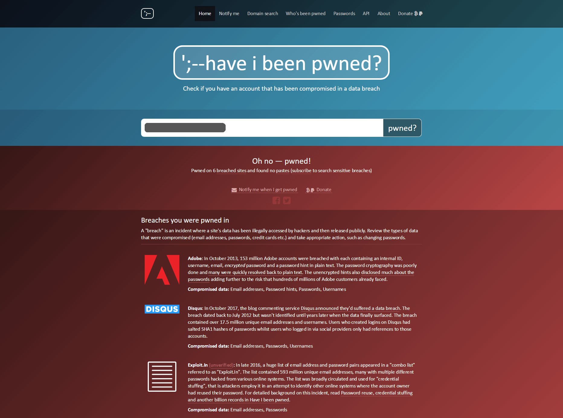 have i been pwned? Review - July 2018 - Cloudee Reviews Have I Been Pwned