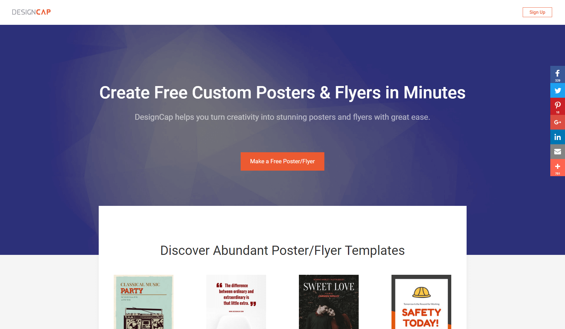 designcap poster maker review - july 2020